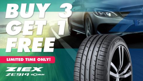 Buy 3 Falken ZIEX ZE914 Tyres get the 4th FREE