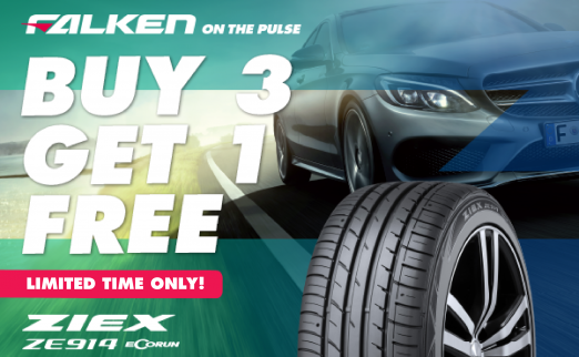 Buy 3 Falken Ze914 Tyres And Get The 4th Free Nitro Crew