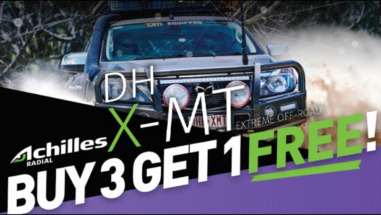 Buy 3 Achilles Radial X-MT tyres and get the 4th FREE